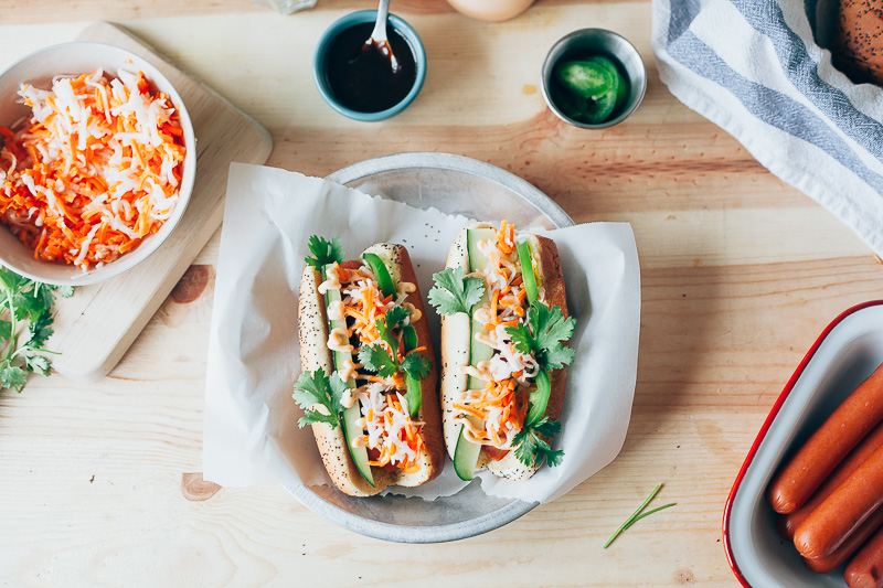 bánh mì hot dogs — molly yeh