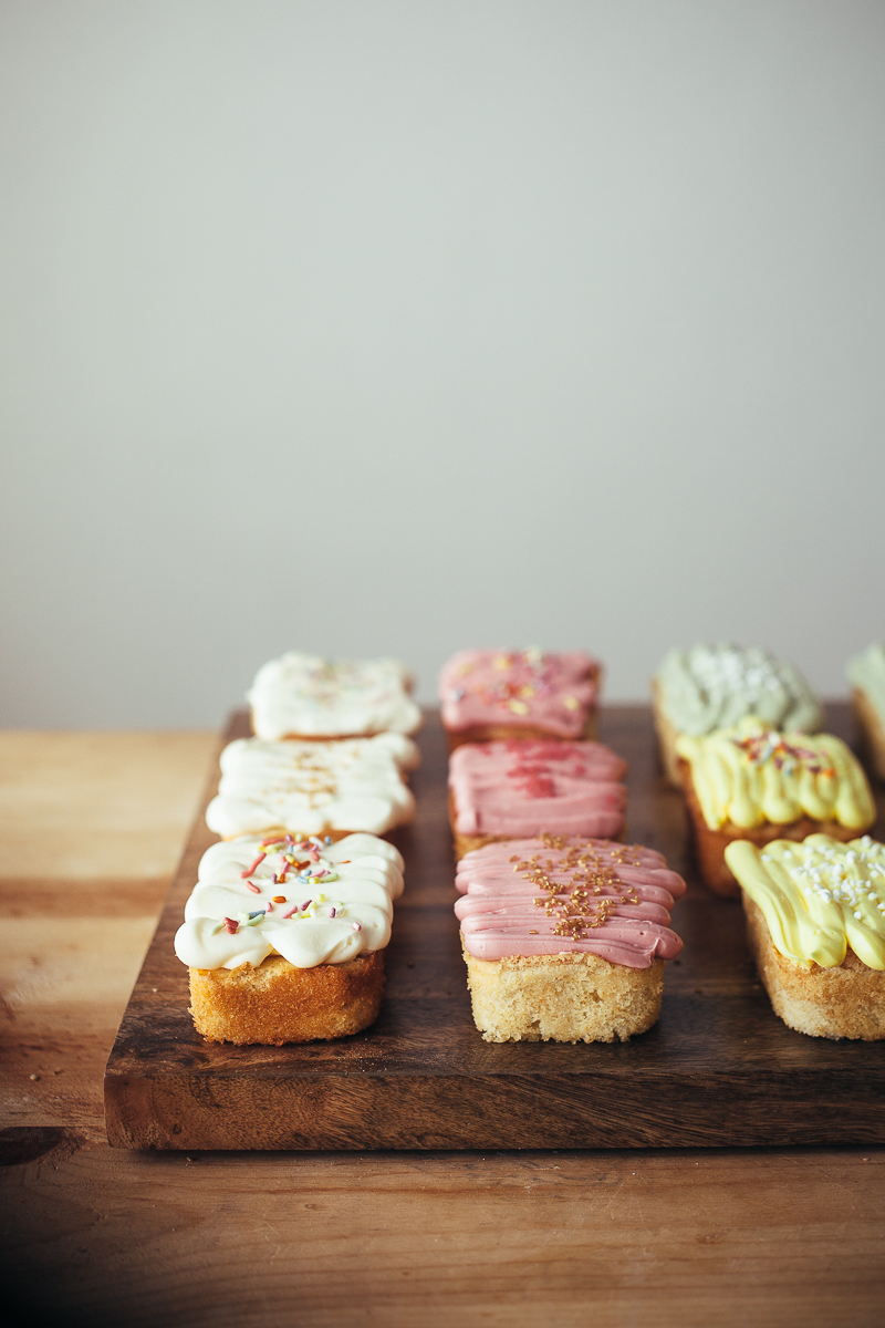 mini vanilla loaf cakes all trashed up � molly yeh