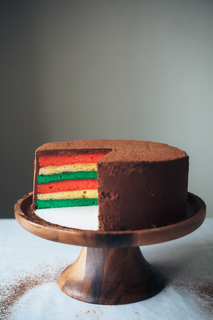 italian rainbow cookie cake — molly yeh