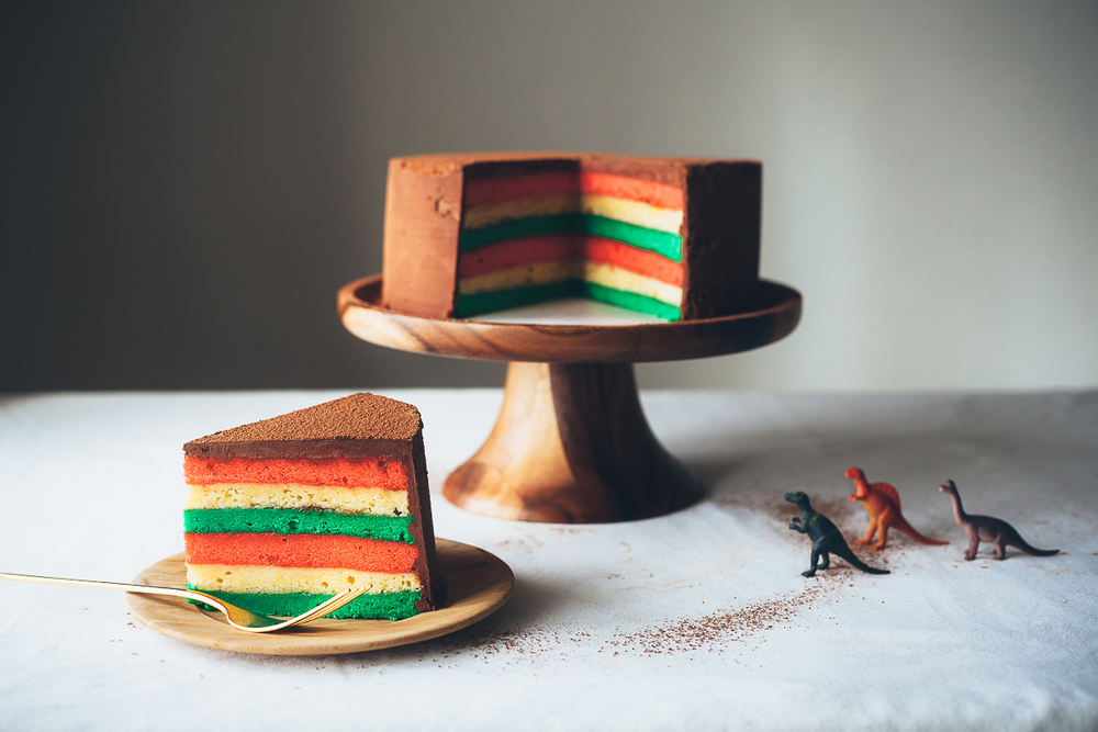 Italian Rainbow Cookie Cake 6