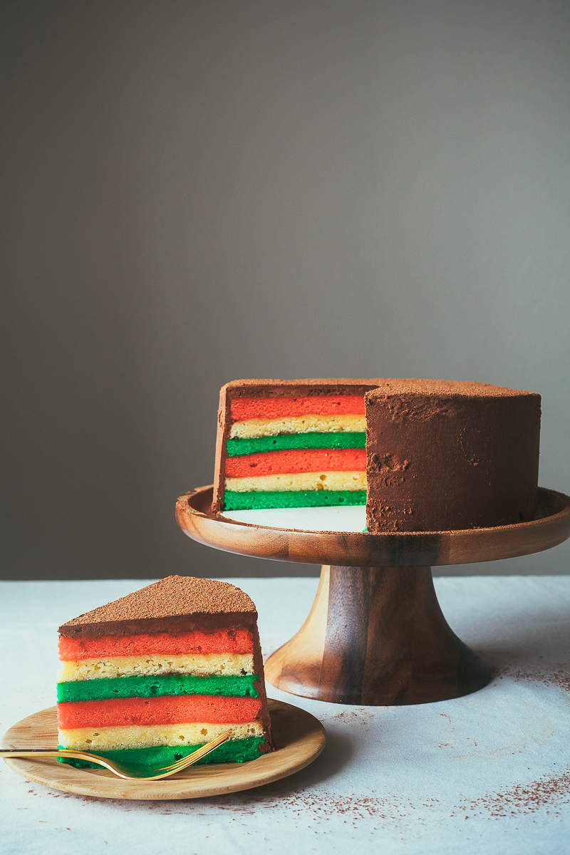Italian Rainbow Cookie Cake 3 Jpg