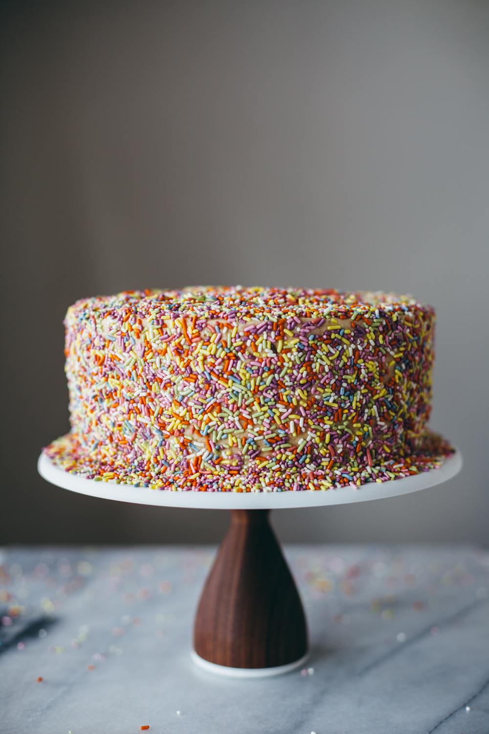 Chocolate Peanut Butter Sprinkle Cake Molly Yeh