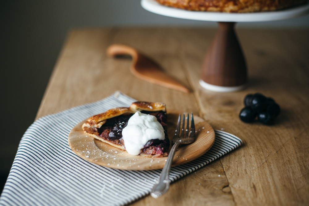 peanut butter and grape galette — molly yeh