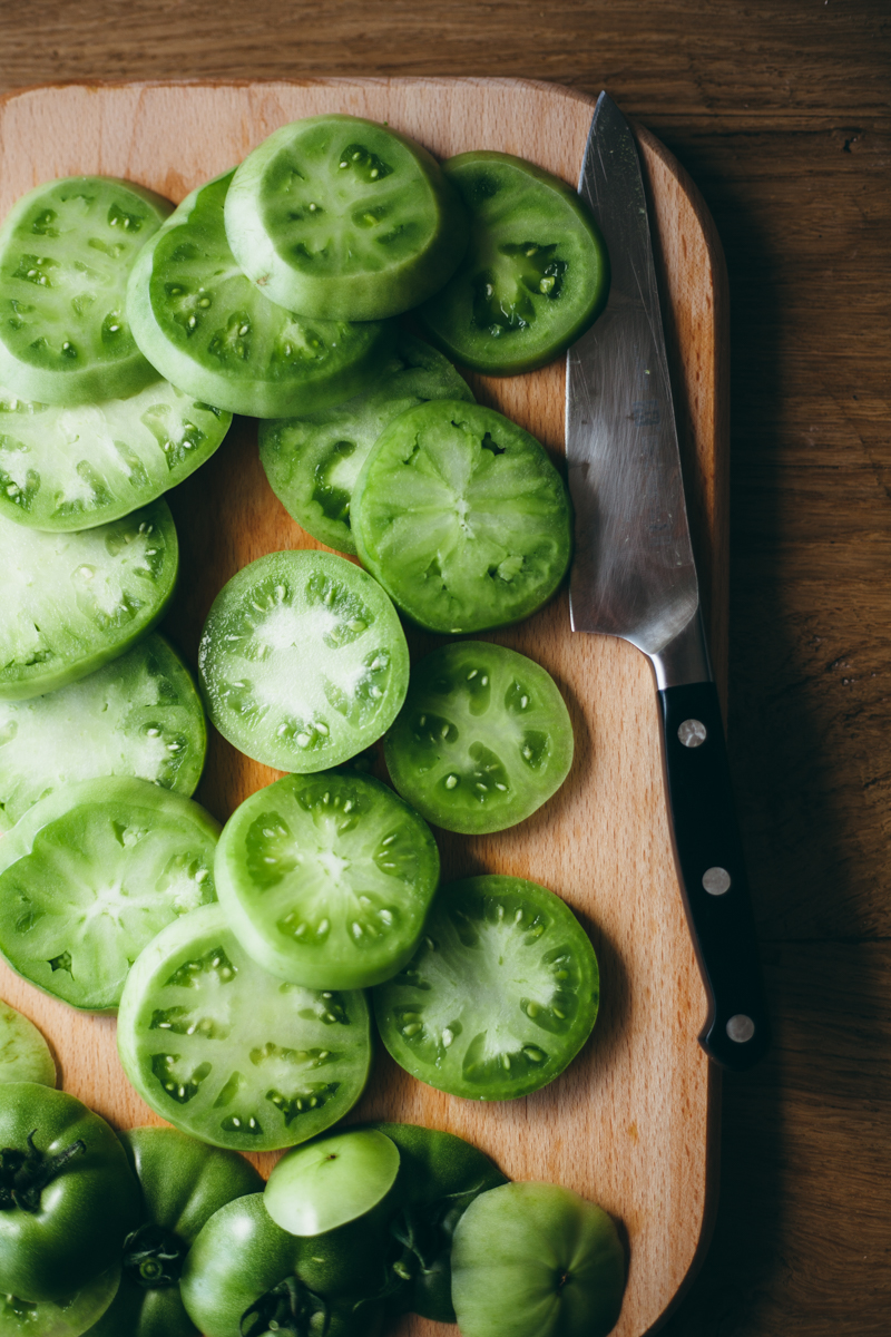 how to cook fried green tomatoes in the oven