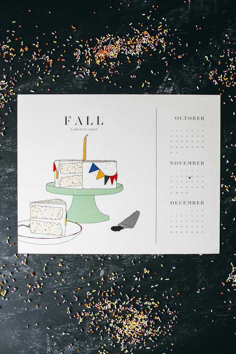 a cake calendar my name is yeh bloglovin. Black Bedroom Furniture Sets. Home Design Ideas