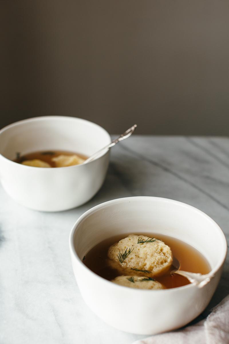 chickpea flour matzo ball soup — molly yeh