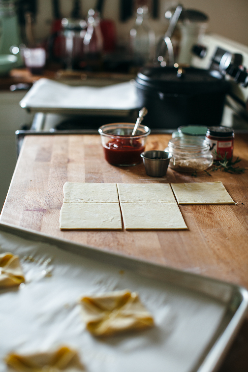 harissa tomato danishes with herby goat cheese — molly yeh