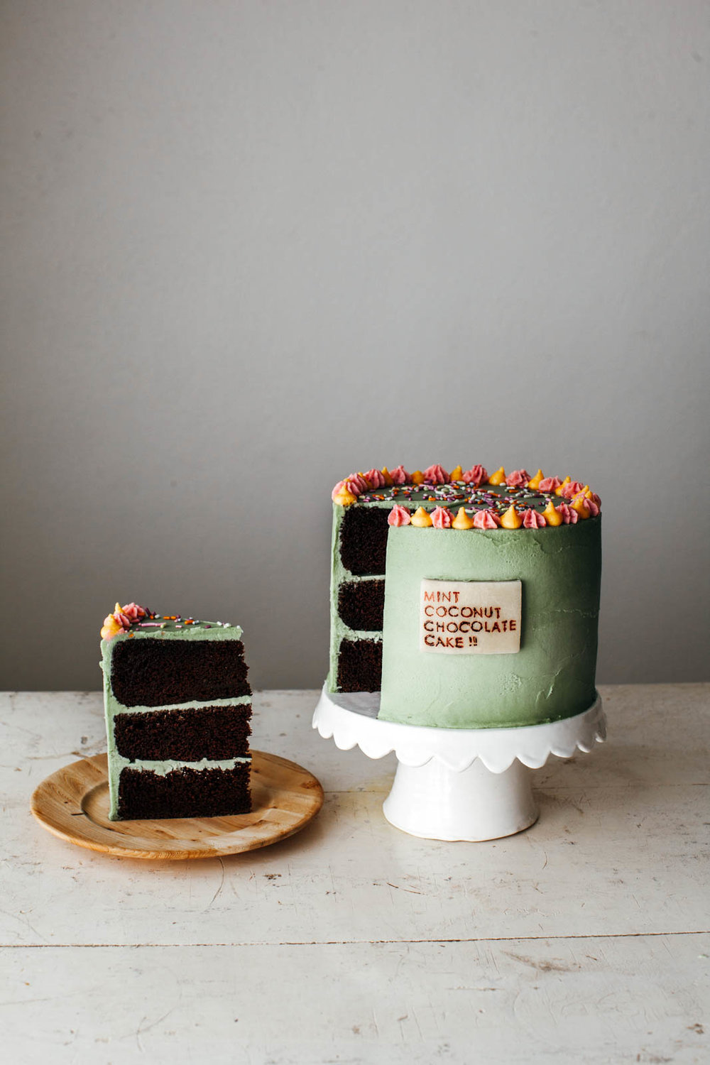 mint coconut chocolate cake my name is yeh bloglovin. Black Bedroom Furniture Sets. Home Design Ideas