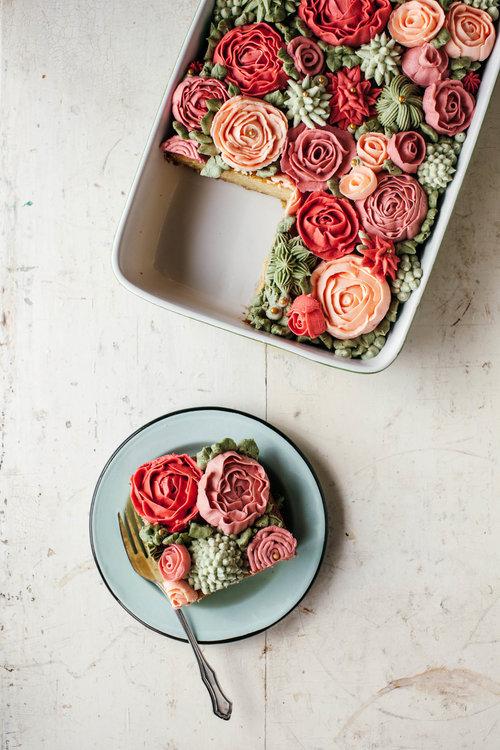 rose rose cake