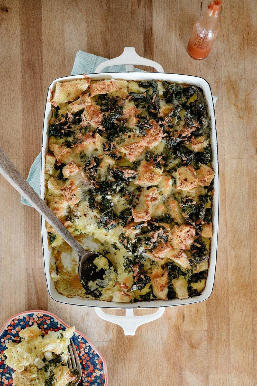 Sourdough Kale Strata