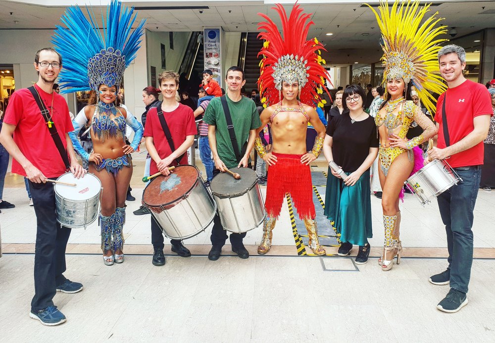 Looking for that  carnival  atmosphere? We perform  authentic Brazilian Samba  suited to any Rio themed party or event. Let our showgirls and samba boys bring that sizzle to the stage with a sparkling Brazilian Samba performance.