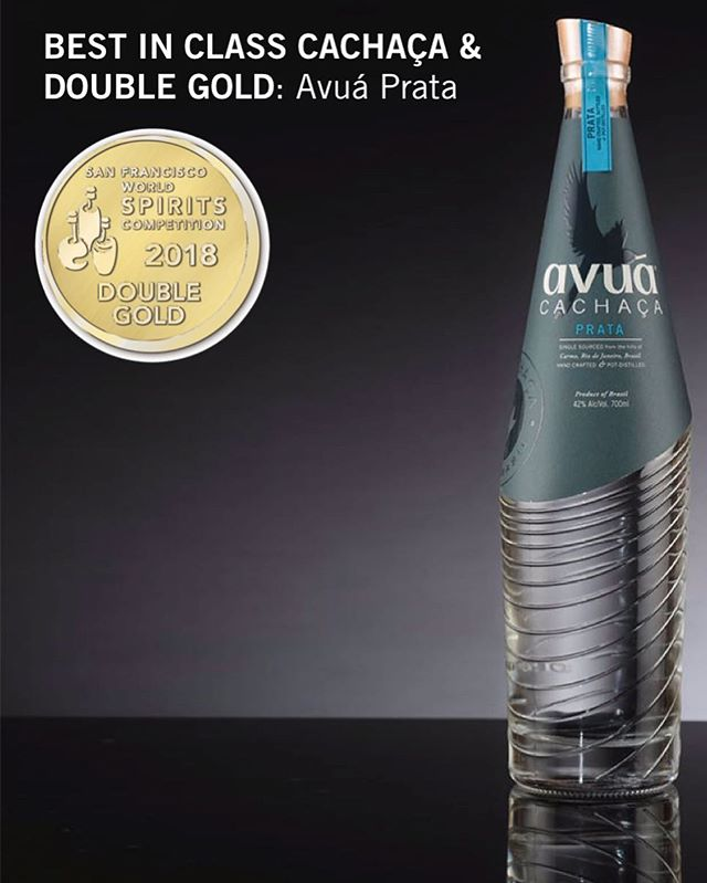 Incredibly excited to announce that Avuá Prata has been named Best in Class Cachaça at the prestigious San Francisco Spirits Awards as well as been given a double gold!  Double Golds are the top 1% of entries to the SF Spirits with the best judging panel in the world.  Many thanks to the judges for the recognition, our supporters and the great people who make this product in Carmo, Rio de Janeiro!  #thrillofdiscovery  https://www.forbes.com/sites/joemicallef/2018/05/15/san-francisco-world-spirits-competition-releases-2018-best-in-class-winners/#5137df722247