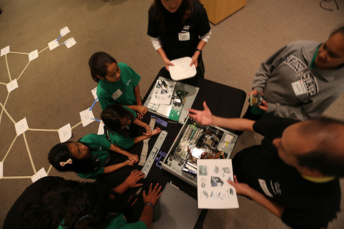 Students learn by doing with STEM Mentors.