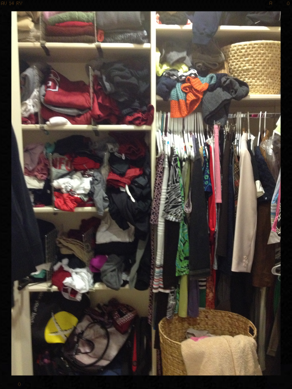 Before picture of clients closet