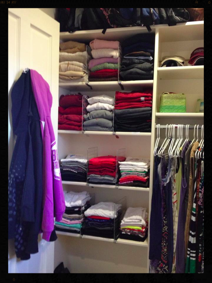 After picture of clients closet