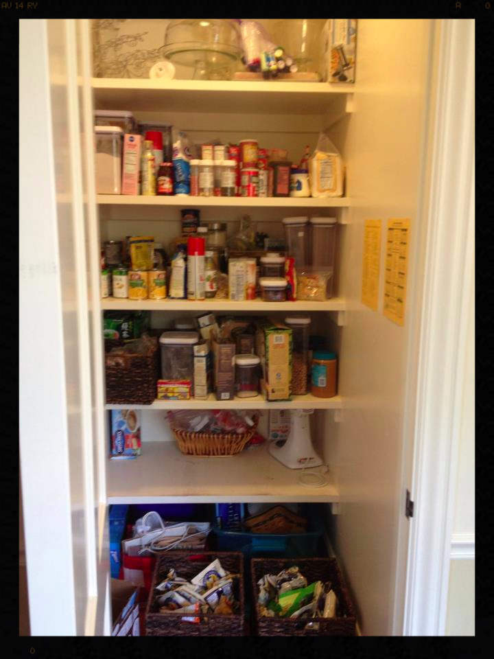 Before picture of clients pantry (a part of a kitchen organization project)