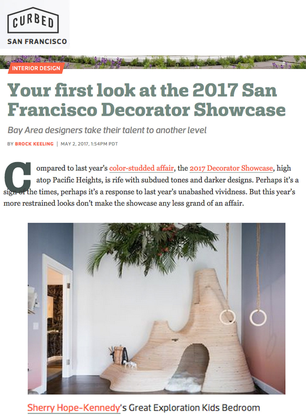 Curbed SF - CurbedSF gives a sneak peek of the SF Decorator Showcase. Link: http://bit.ly/2qZSpEv
