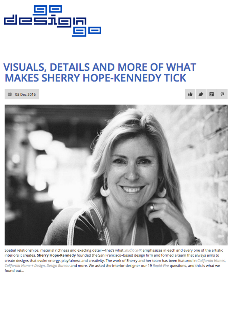 GoDesignGo - Learn what makes Sherry tick in this GoDesignGo interview: http://bit.ly/2pATXUm