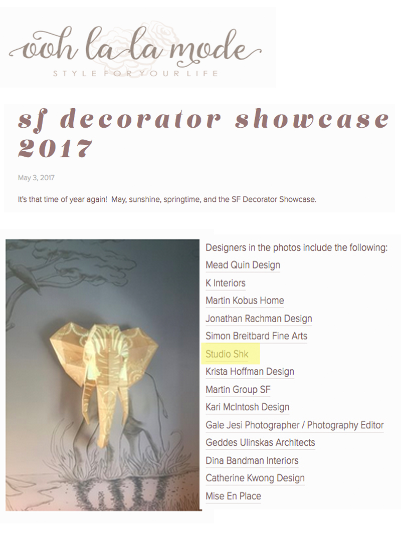 Ooh La La Mode - Our Elephant light fixture is featured on the Ooh La La Mode blog. Link: http://bit.ly/2sRfY2E
