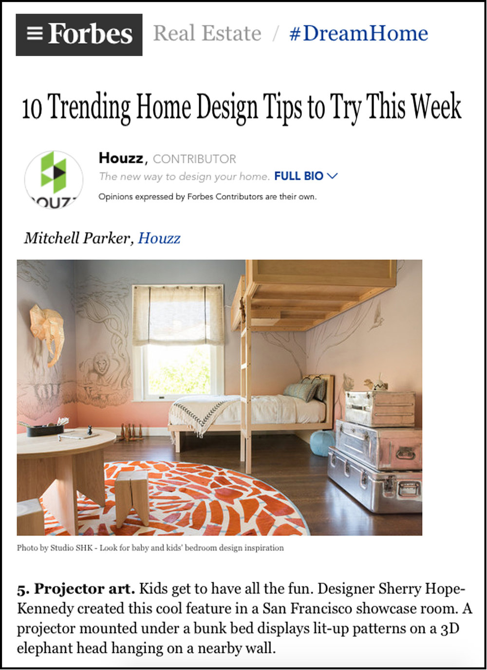 Forbes - Forbes.com picks-up Houzz's