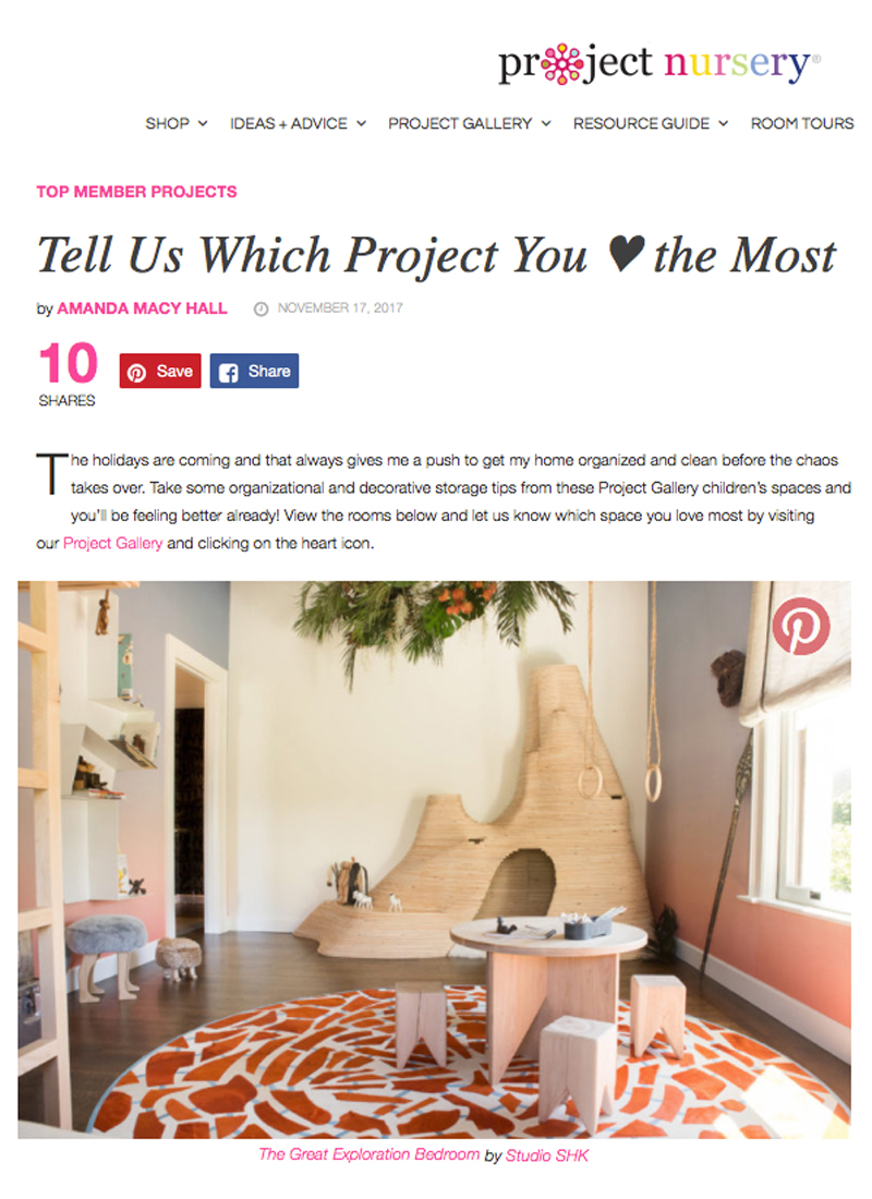 Project Nursery - Project Nursery, the parent site of Project Junior, selected our Great Exploration Bedroom as one of their favorite projects of the week. LINK: http://bit.ly/2zSAk2l
