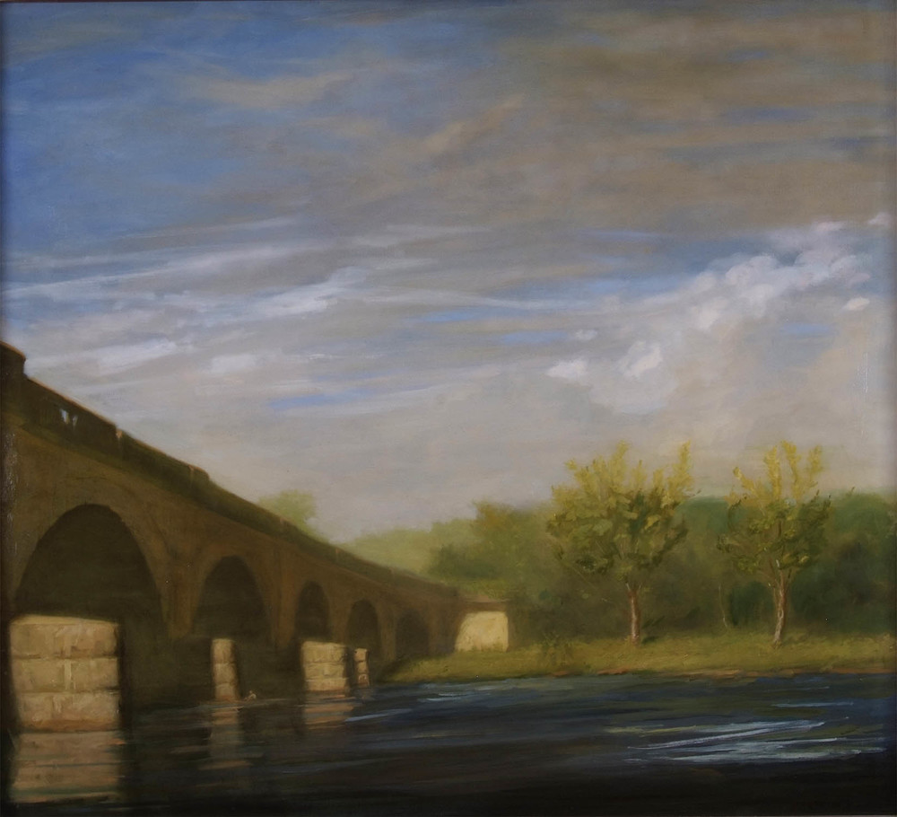 Columbia Bridge, Summer Afternoon, 32 x 38 inches, oil on linen