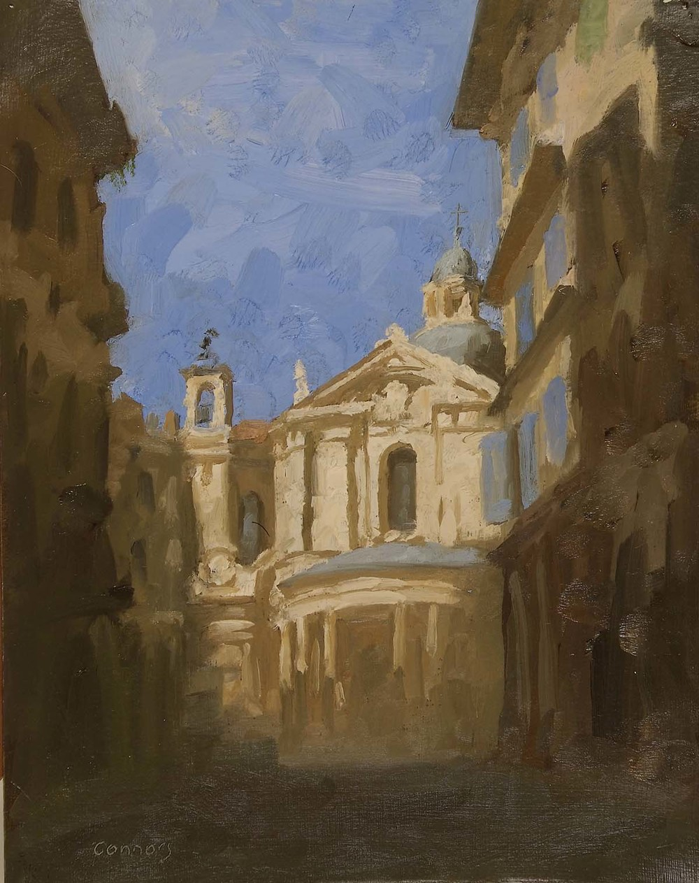 Santa Maria della Pace, 12 x 9.5 inches, oil on prepared paper