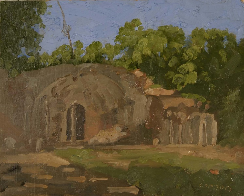 Canopus, Hadrian's Villa, 9.5 x 12 inches, oil on prepared paper