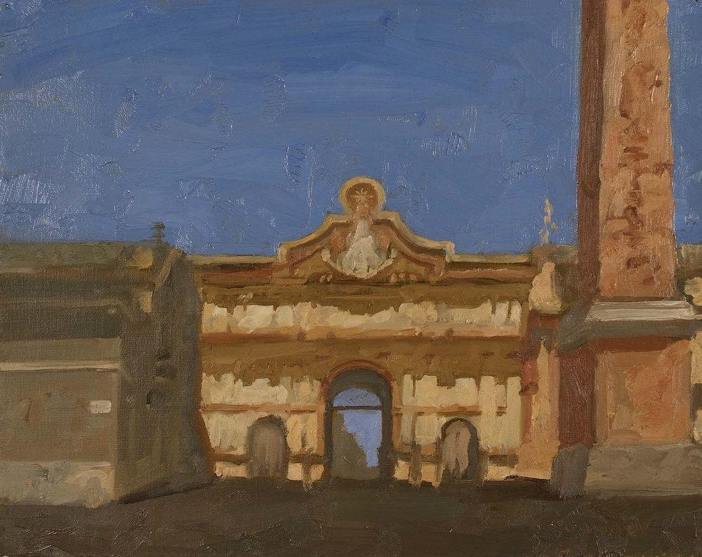 North Gate, Rome, 9.5 x 12 inches, oil on prepared paper