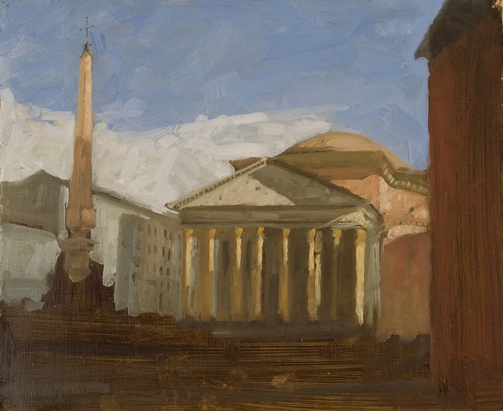Pantheon, 12 x 9.5 inches, oil on prepared paper