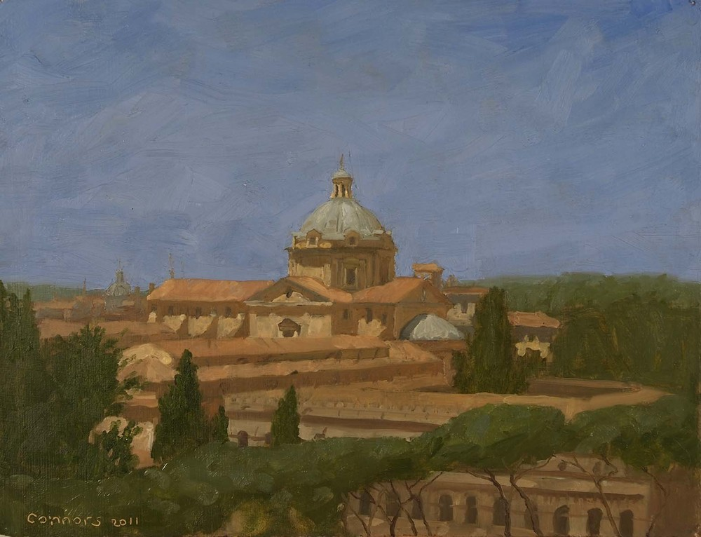 The Church of Il Gesu,  9.5 x 12 inches, oil on prepared paper