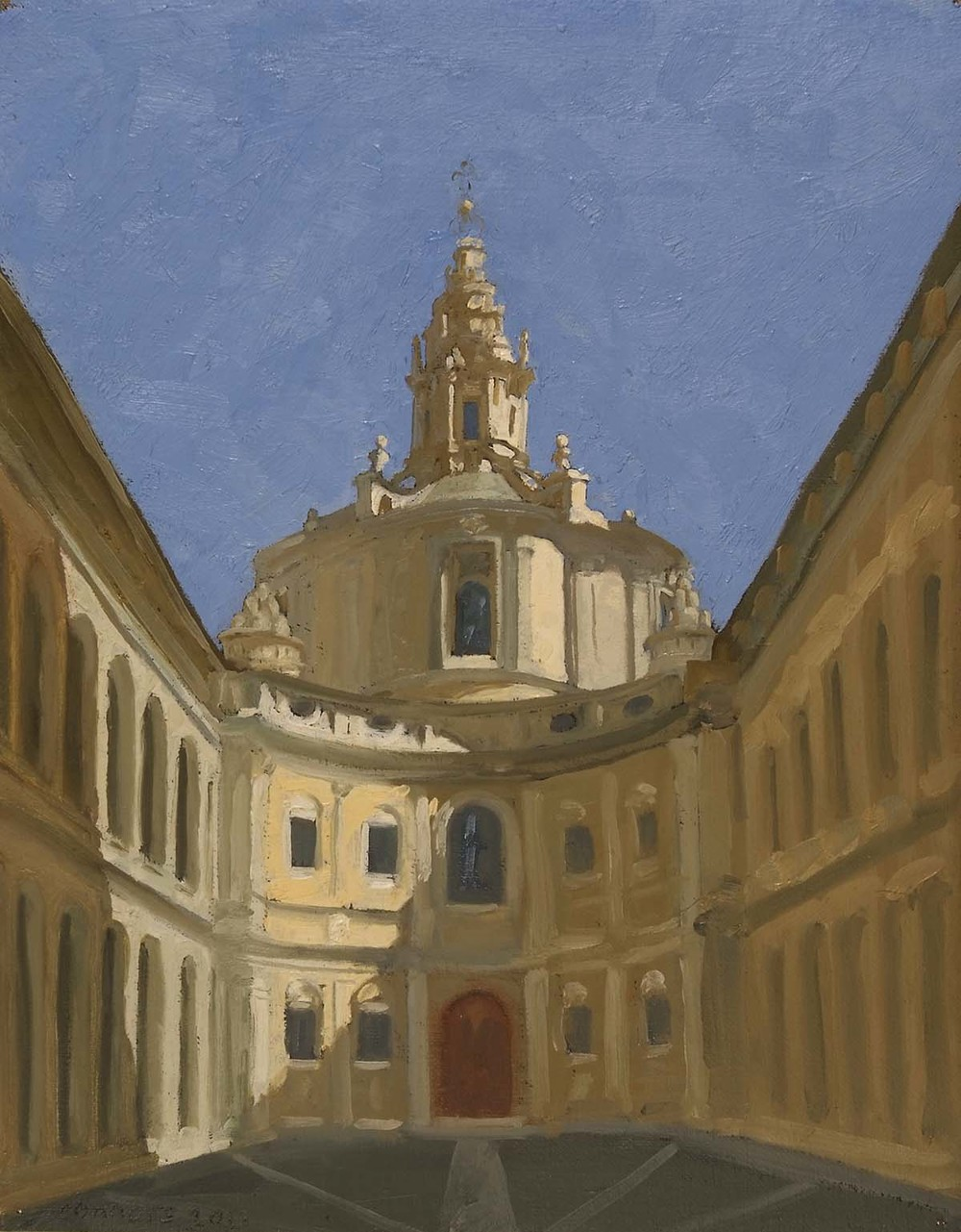 Sant'Ivo alla Sapienza, 12 x 9.5 inches, oil on prepared paper