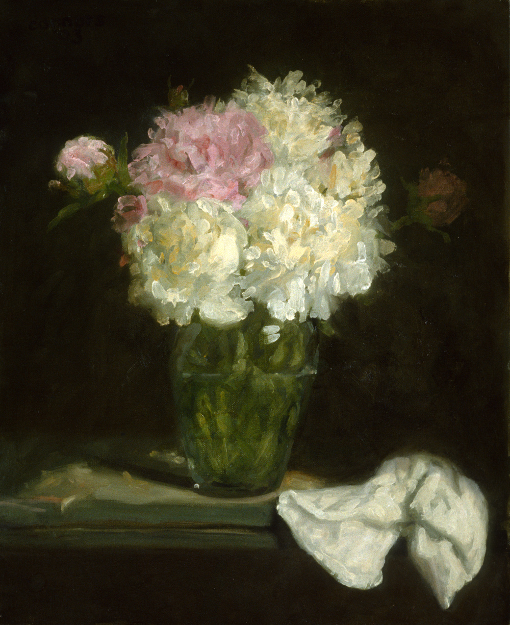 Peonies, 22 x 17 inches, oil on linen