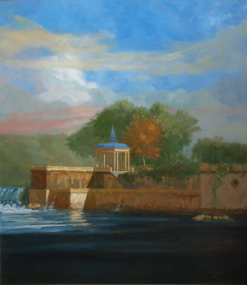 Fairmount Gazebo, Autumn, 32 x 26 inches, oil on linen