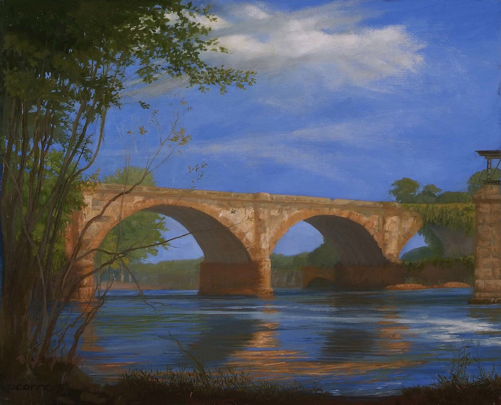 West Falls Bridge, Summer, 16 x 20 inches, oil on linen