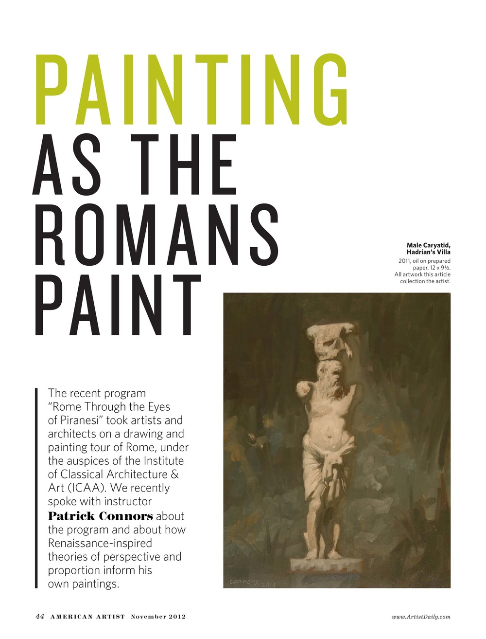 2012 November American Artist Painting as the Romans Paint-1.jpg