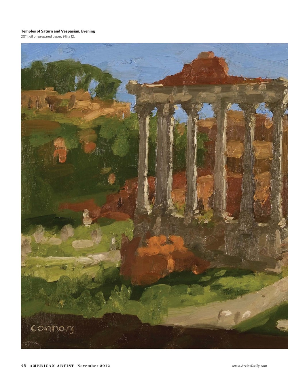 2012 November American Artist Painting as the Romans Paint-5.jpg