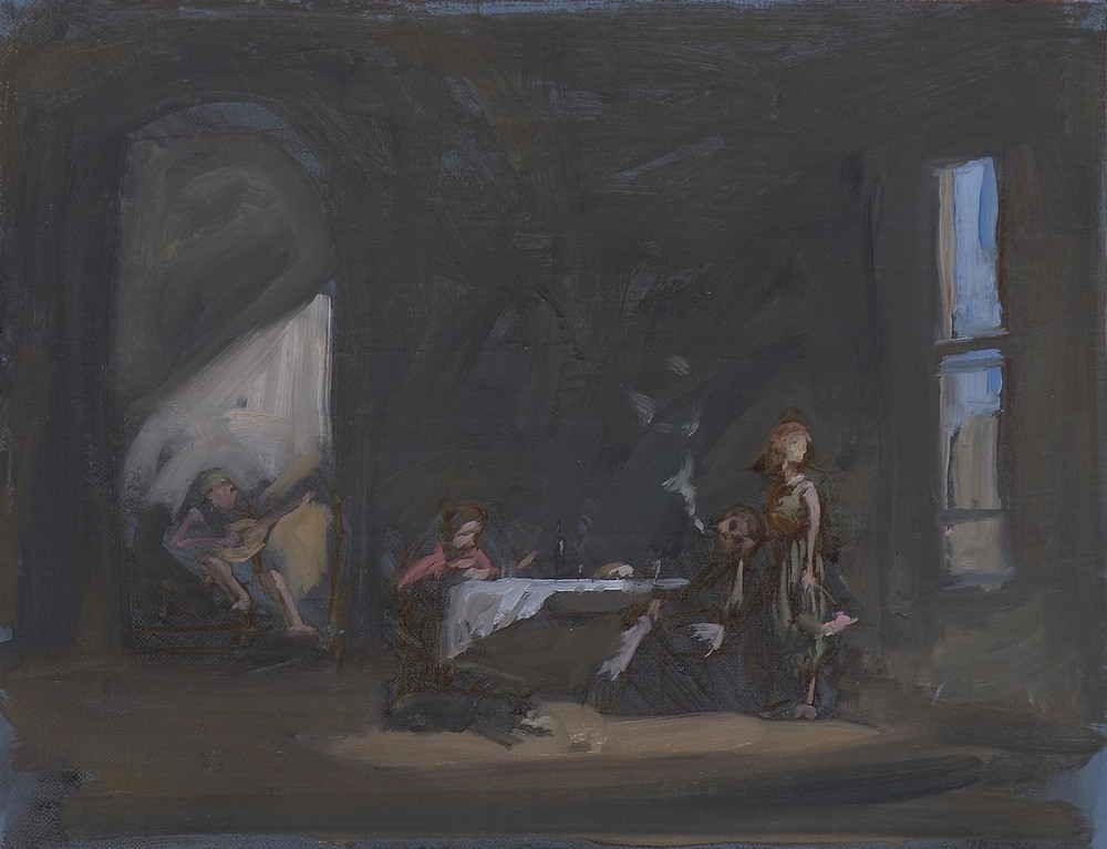 Studio with Four Figures