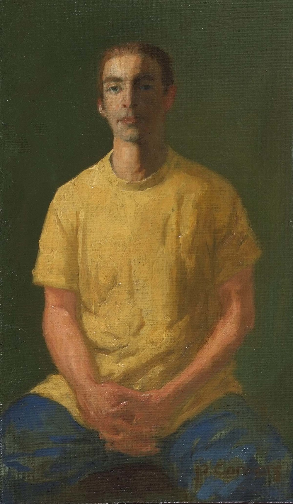 Portrait of B.S., 12 x 6 inches, oil on linen