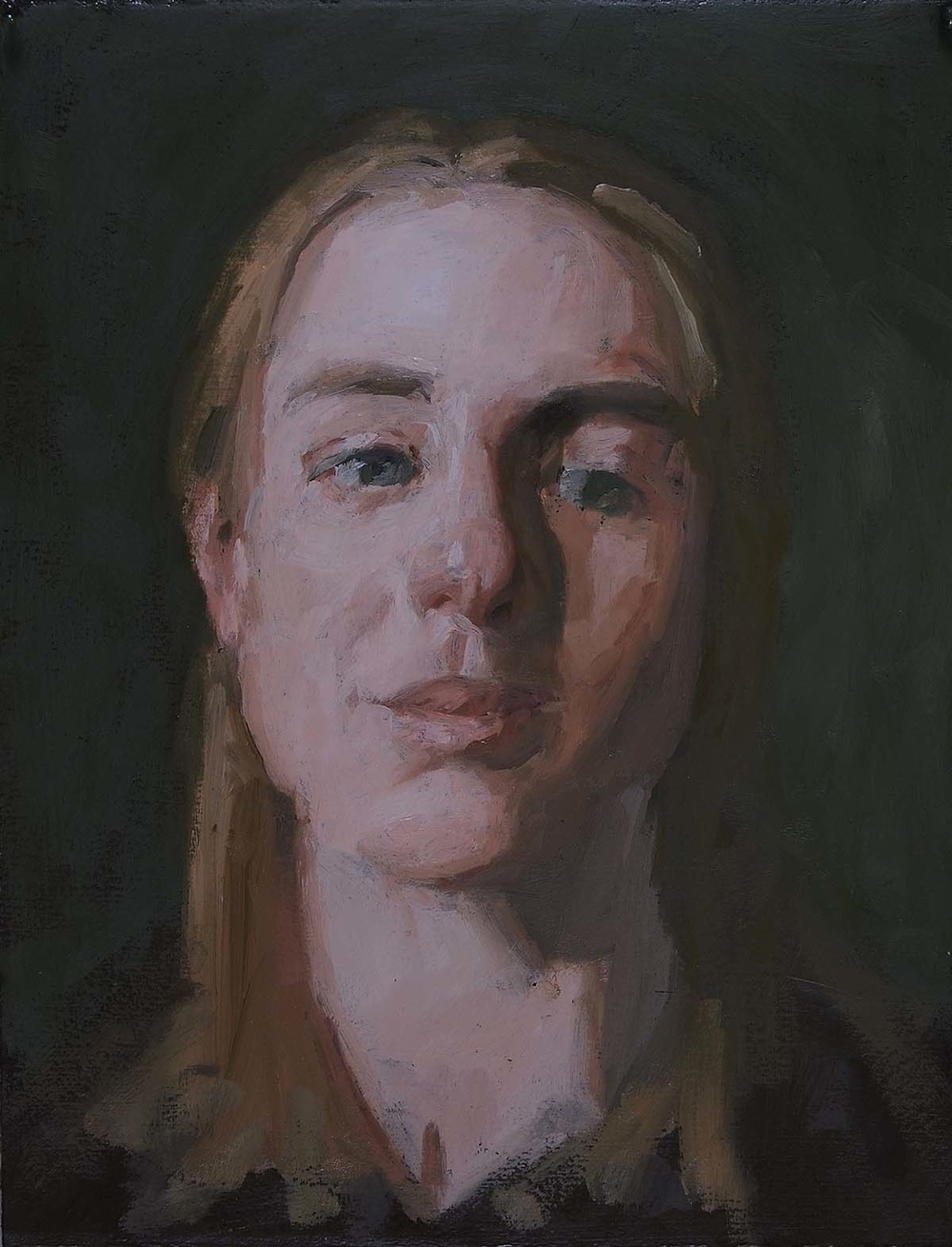 Portrait of K. B., 15 x 12 inches, oil on linen