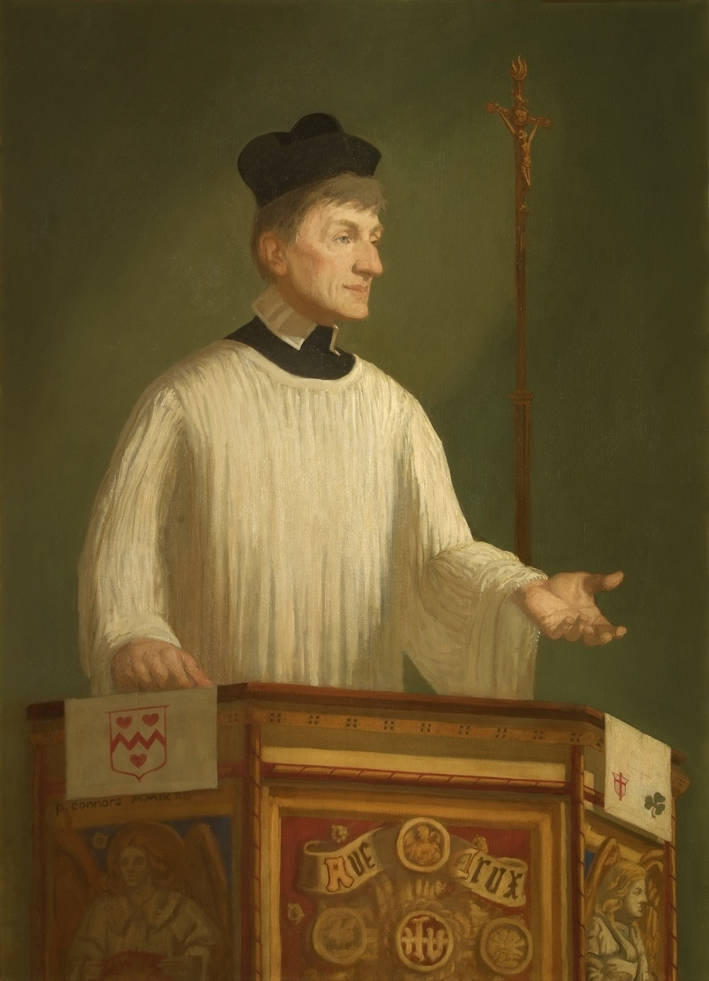 Blessed John Henry Newman, 48 x 36 inches, oil on linen