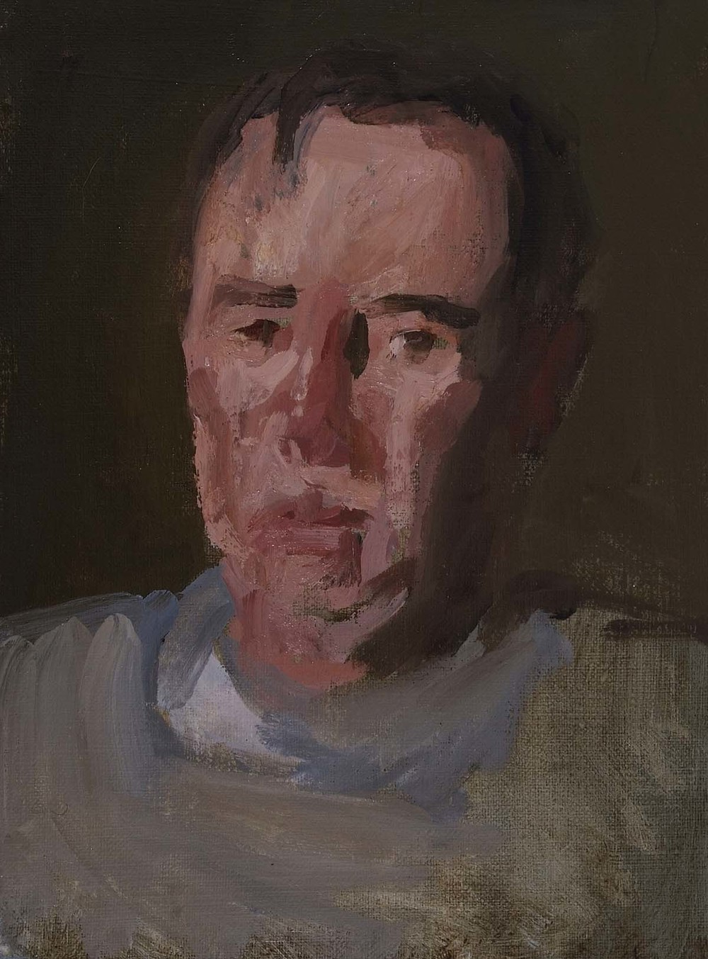 Portrait of My Father, 10 x 8 inches, oil on prepared paper