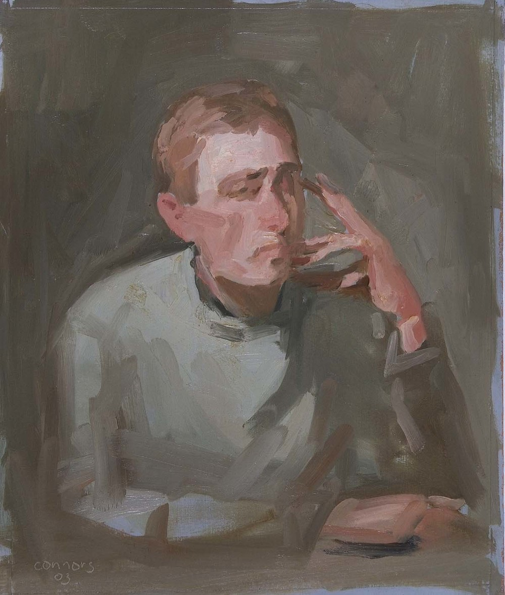 Portrait of R. B., 12 x 10 inches, oil on prepared paper