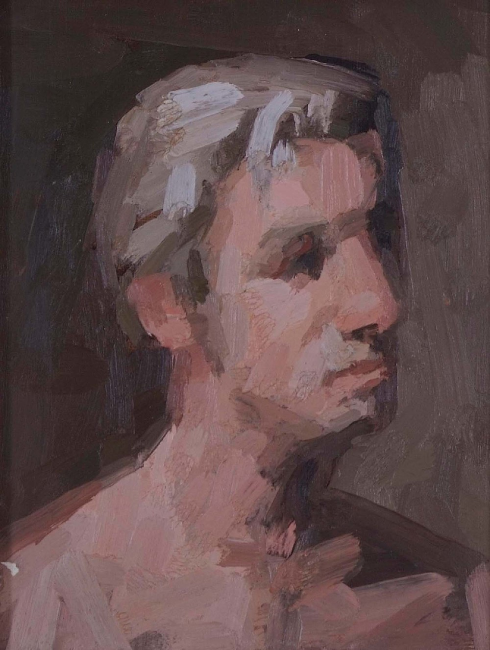 Portrait of J. L., 10.75 x 8.25 inches, oil on prepared paper