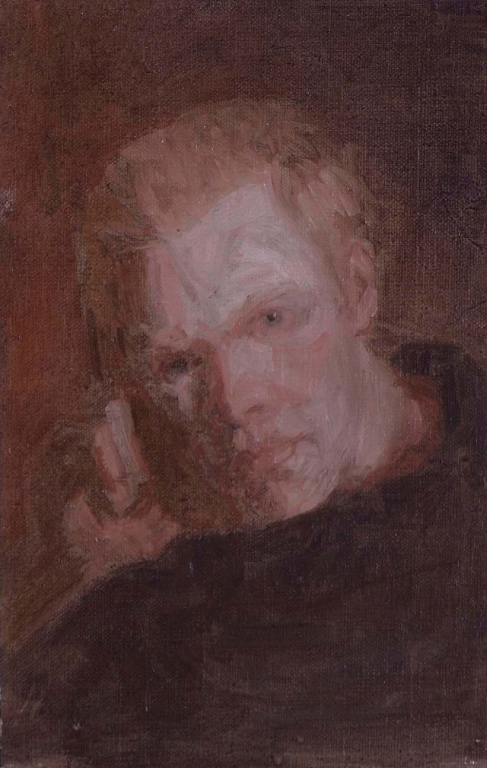 Portrait of S. D., 7.75 x 5 inches, oil on linen