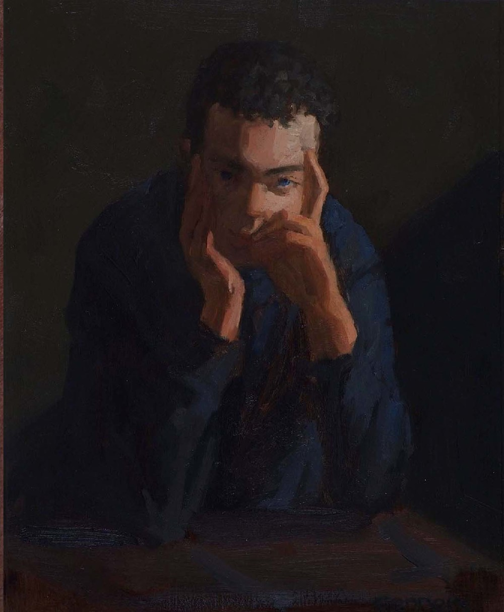 Portrait of A. D., 10.5 x 8.2 inches, oil on prepared paper