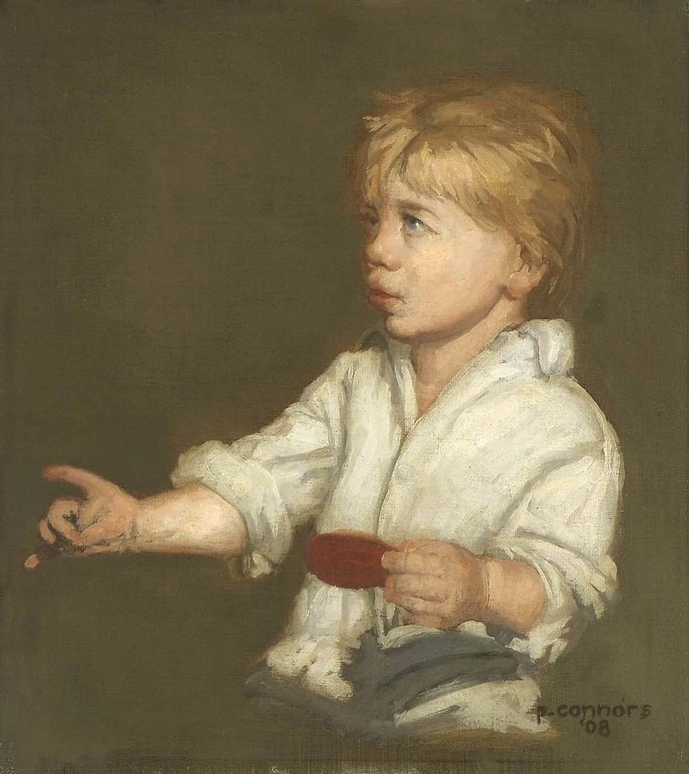 Portrait of a Young Boy, 12 x 11 inches, oil on linen