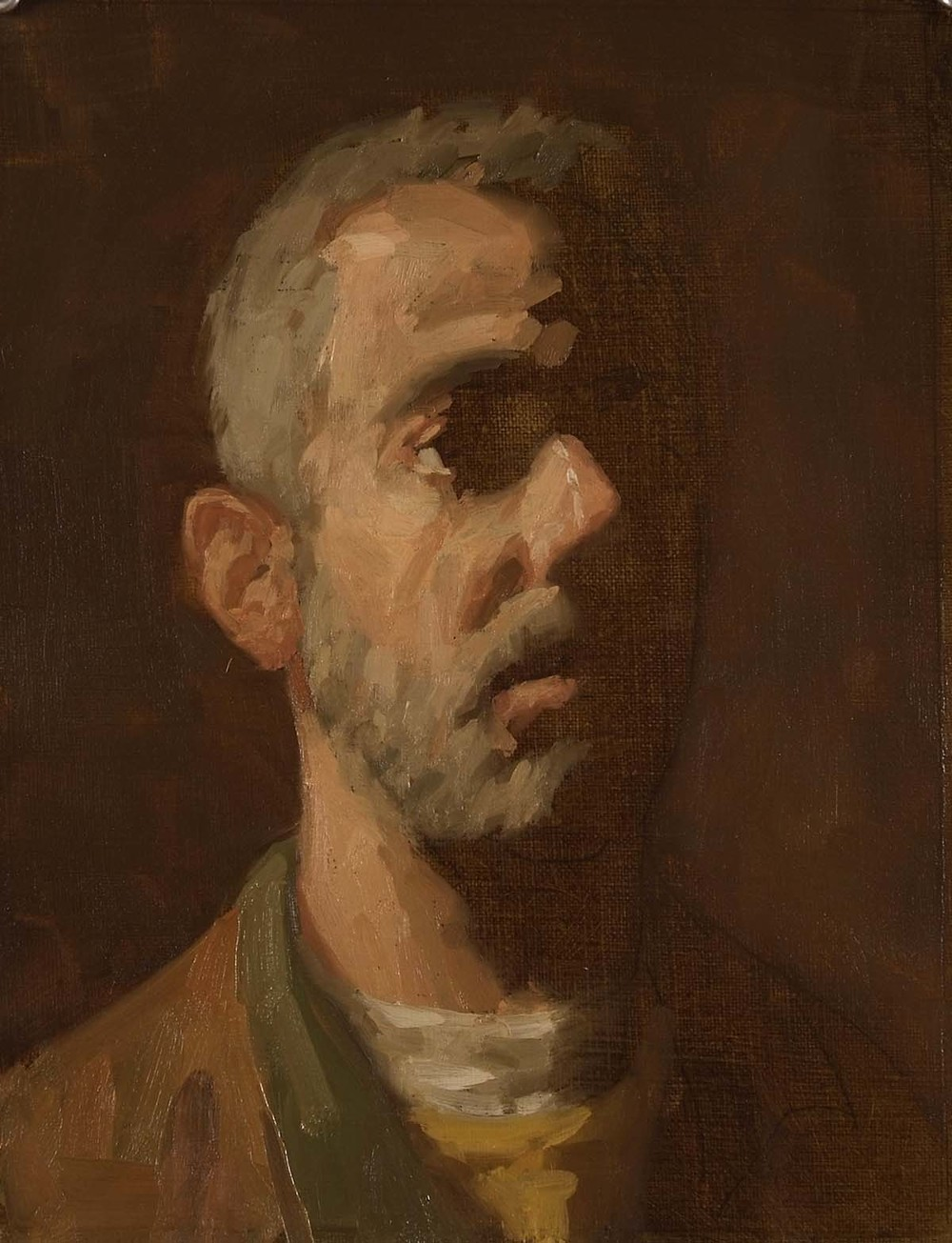 Portrait of J. S., 15 x 13  inches, oil on linen