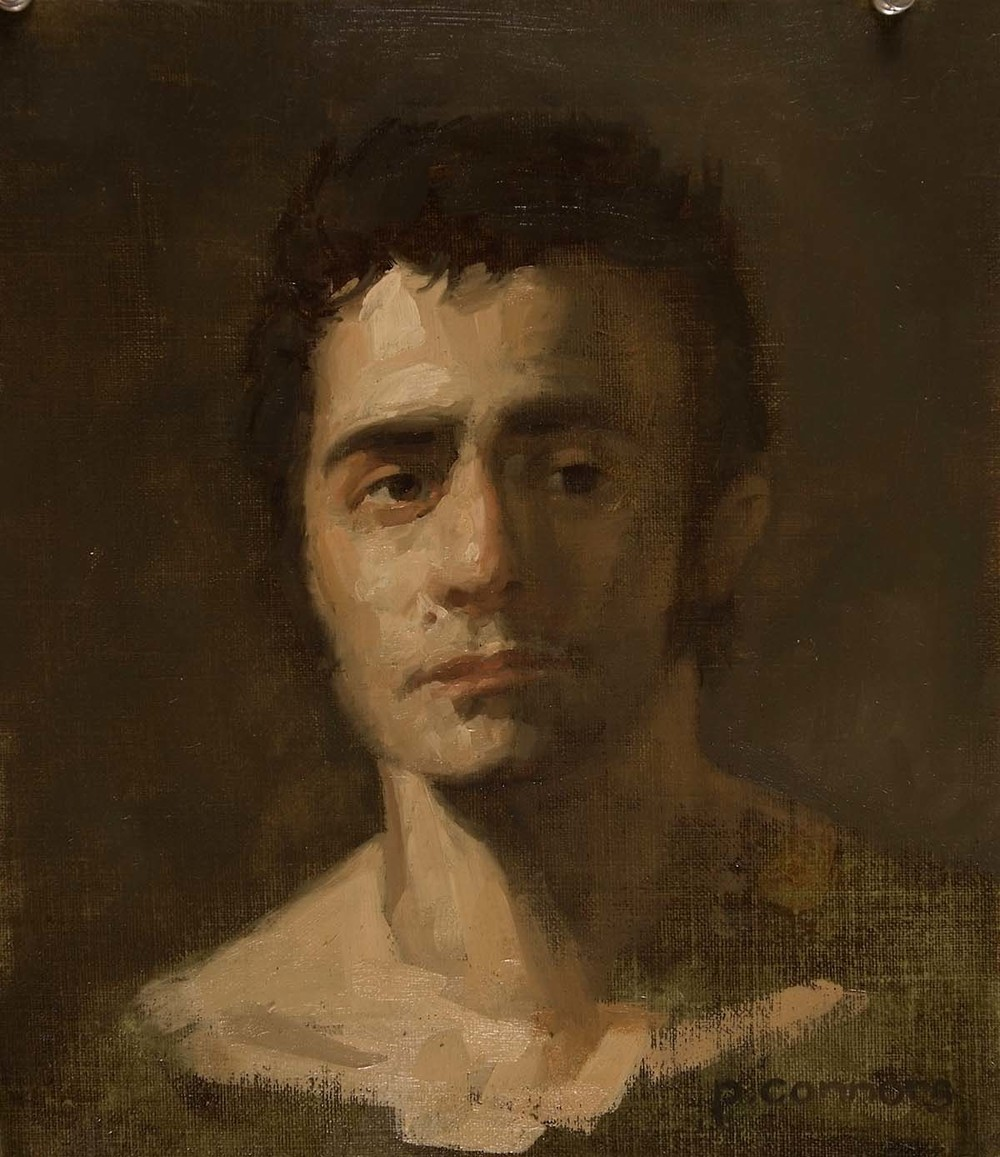 Portrait of D. A., 15 x 13  inches, oil on linen