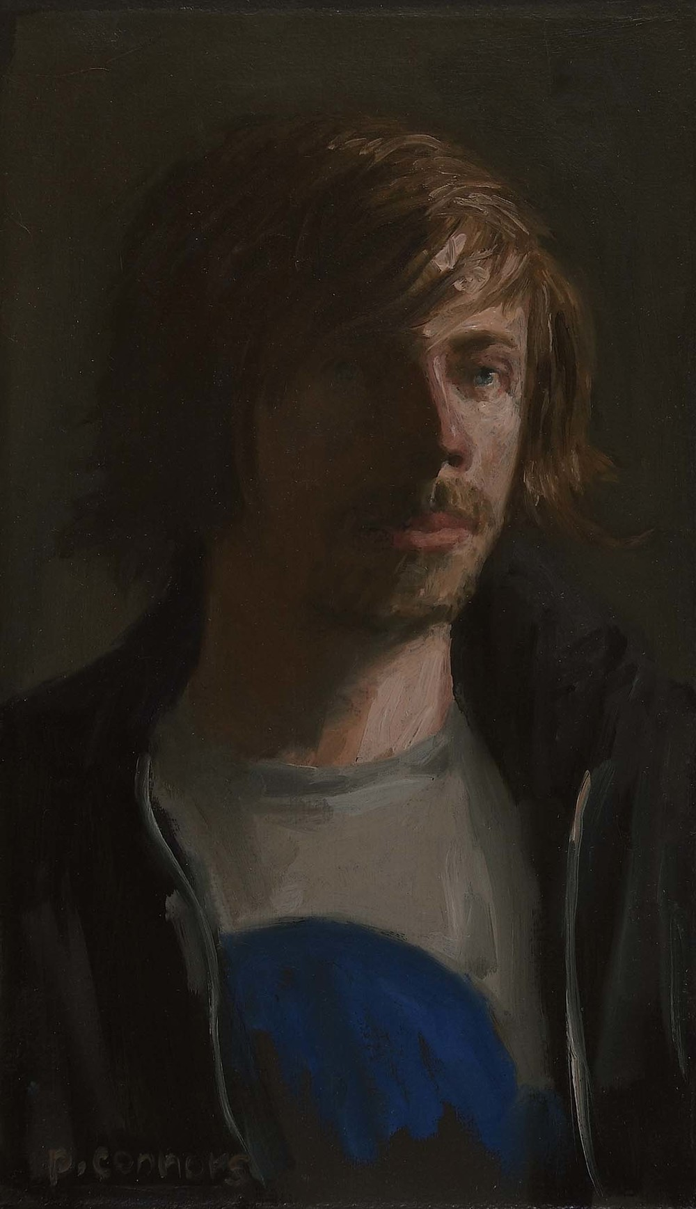 Portrait of L. C., 11.25 x 6.75 inches, oil on linen